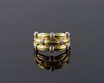 18k 0.02 CTW Diamond White Knot Band Ring Gold