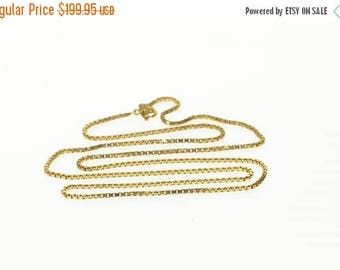 Big SALE 14k 1.2mm Squared Curb Link Chain Necklace Gold 27""