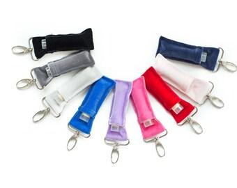 Lip Balm Keychain Holders - Made from velvet