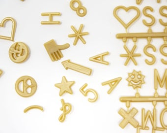Upgrade Gold Extra Letters - 3/4 Inch - 290 Characters