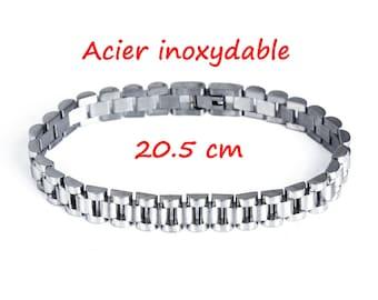 1 bracelet in stainless steel 20.5 cm
