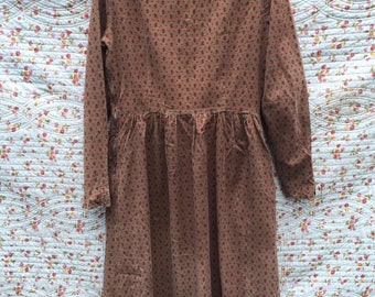 Vintage brown dress by Laura Ashley