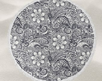 Henna Pattern over-sized round beach towel