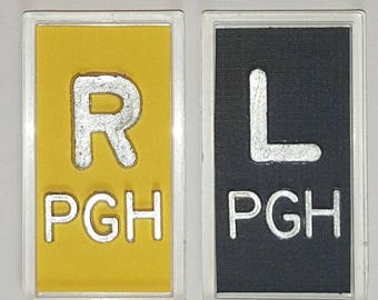 Yellow and Black XRay Markers With Lead Initials