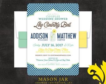 MASON JAR . wedding shower invitation