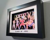 Street Fighter II: Class of 1991 3D Shadow Box 5x7 Arcade Art Diorama