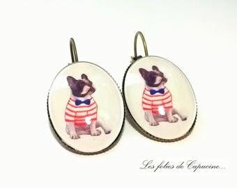 MONSIEUR BULLDOG • • Cabochon Stud Earrings