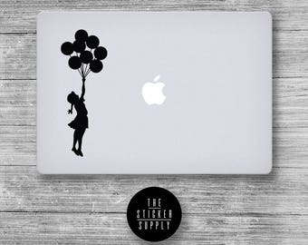 Banksy Girl Balloon Decal - Macbook Vinyl Sticker Decal