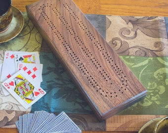 Cribbage board | walnut Cribbage board | personalized Cribbage board