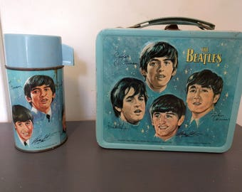 Beatles 1965 Aladdin Lunchbox with Thermos