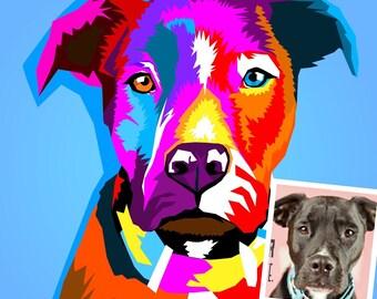 Custom WPAP Pet Portrait / wedha pet portrait / wpap style