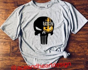 Navy Punisher Skull Shirt (E4-E9)