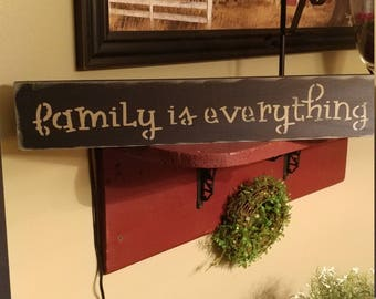 Sign, Farmhouse Sign, living room decor, wall decor, We Have Everything, Custom Sign, Handmade, Gift ideas, Christmas gift, wooden Sign
