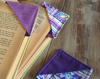Corner bookmarks, reading, books, cute bookmarks, reading gifts, owls, fabric bookmarks, library, coffee, studying, school supplies,