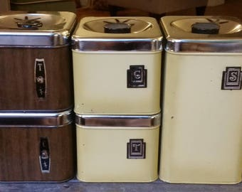 Retro Vintage Kitchen Canisters
