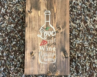 Wine Wooden Sign