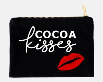 Cocoa Kisses Cosmetic Bag - Cosmetic Bag - Makeup Bag