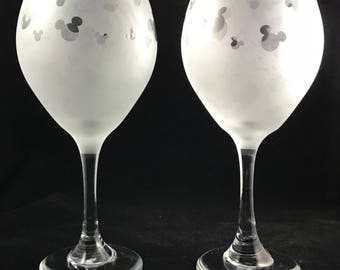 Mickey wine glass