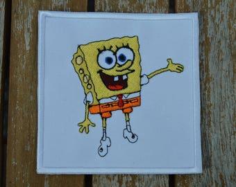 the 9 cm embroidered sponge bob coat