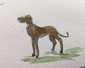Dog ORIGINAL Miniature Watercolour 'A Friend' ACEO Dog, For him, For her, Wall Art, Home Decor, Gift Idea, Free postage worldwide