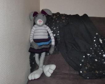Plush en wool Lou la Pretty lapine