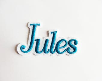 Set of 5 patches (possible unit sale) shape in your name on request: Jules