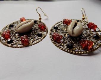 Round earring strands/Butterfly/pad.