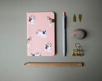 Pink Beagle Pocket Notebook