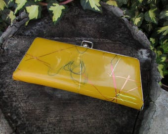 Vintage Yellow Case For Glasses, Plastic Glasses Case, Home Decor, Vintage Yellow Case, Retro Case, Yellow, Gift Idea