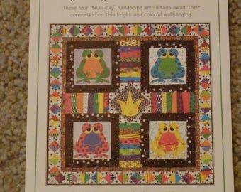 frog quilt pattern, baby quilt pattern, crib quilt pattern, gender neutral quilt, nursery decor pattern