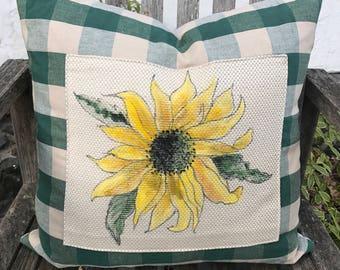 Unique, Hand Painted Pillow