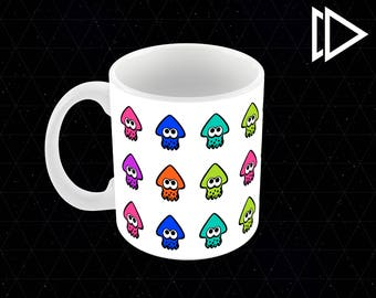 Splatoon 2 Squid Pattern - 11oz Coffee Mug