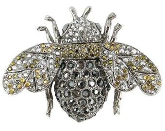 Ciner NY Chrome 100th Anniversary Bee Brooch / Pin - Medium