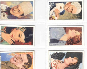 Complete Set of 48x Original Cigarette / Tobacco Cards - 'PORTRAITS of FAMOUS STARS' - by Gallaher c1935