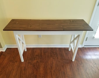Traditional Farmhouse X EntrywayTable / Sofa Table / Foyer Table / Console / TV Stand