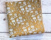 Liberty London Pocket Square, mustard pocket square, Liberty Capel, Hankerchief, Groom Accessory, stocking filler, gift for him