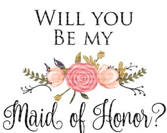 Maid of Honor Clipart, Sublimation Designs, Wedding Party Clipart, Clipart Graphics, Commercial Use Clipart, Digital Scrapbooking