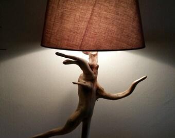 """Lampe en bois flotté """"ballerine"""" élégante et sensuelle... SUPERBE !!!"""
