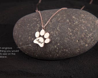 Large Paw Print Necklace • Paw Necklace • Dog Paw • Cat Paw • Paw Print Necklace • Paw Jewelry • Paw Print • Silver Paw • Jewelry