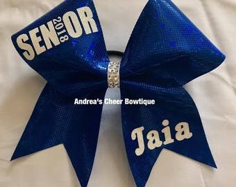 Senior Cheer Bow - Different Options to Choose From