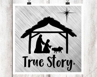 True Story Nativity SVG/DXF/EPS file