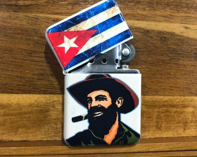 Lighter, Cuban flag, Sublimated Lighter, retro lighter, Cigar Lighter, Flip Lighter, Gift for Him, Groomsmen, Bachelors, Groom, Fathers Day