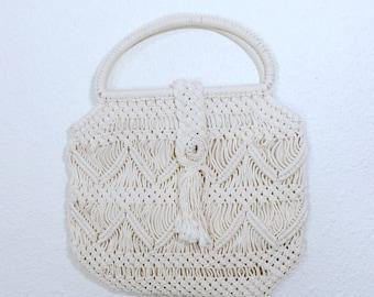 Vintage macrame purse/woven handbag