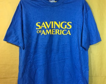 80s Vintage Nos Unworn SAVINGS AMERICA T-shirt Adult X-large Size