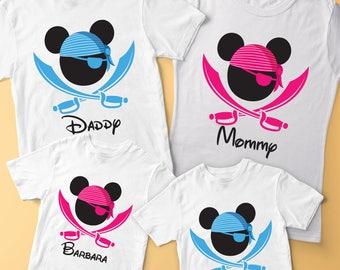 Pirate shirts, Pirate Night Shirt, Mickey Pirate Shirt, Pirate Mickey Shirt, Match Family Shirts, Pirate Night, Cruise Pirate Night