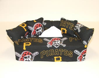 Pittsburgh Pirates MLB Licensed fabric tissue box cover,