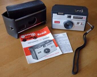 1960's Kodak Instamatic 50 Camera (Instructions & Kodak Case)