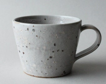 clear glazed speckled cup/mug (kohiki)