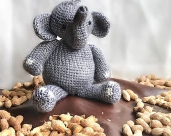 Elephant Stuffed Plush | Elephant Stuffed Animal | Elephant Toy | Stuffed Animal | Elephant Decor | Elephant Baby Decor | Crochet Elephant