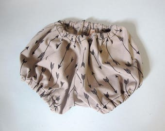 Bloomer baby winter - Model TAUPE BLACK ARROWS - 3 months - poofy pants